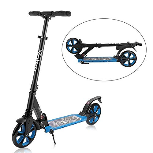 Scooter for Adult, Yoleo 3 in 1 Adult Kick Scooter with 8 Inch Extra Large Wheels, 220 LBS MAX Load, Folding Scooter and Detachable for Boys and Girls, Teenagers, Adults – Black