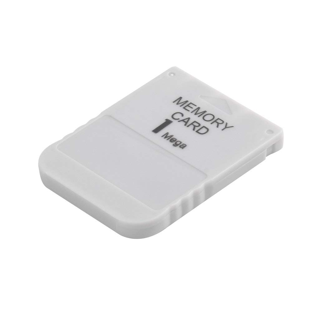PS1 Memory Card 1 Mega Memory Card for Playstation 1 One PS1 PSX Game Useful Practical Affordable White 1M 1MB