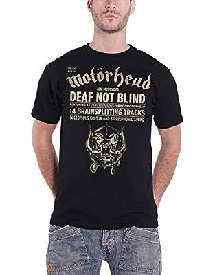 Motorhead Shirt Deaf Not Blind warpig Band Logo Official Mens Black