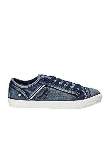 Wrangler Uomo Sneakers Blu Jeans WM181031 Scarpe Primavera Estate 2018, 42 EU