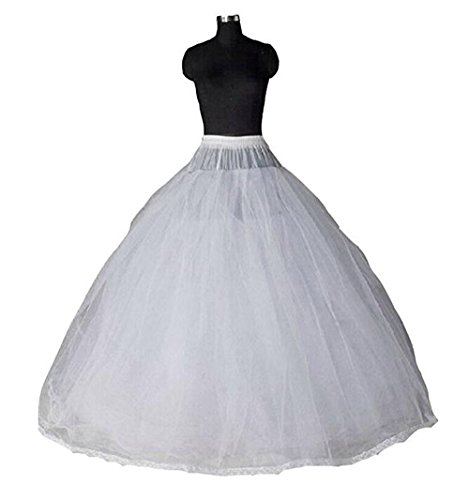 TF Dress Women's Bridal Crinoline Petticoat For Ball Gown Wedding Dress (One Size, 8 Layer) Layer Slip