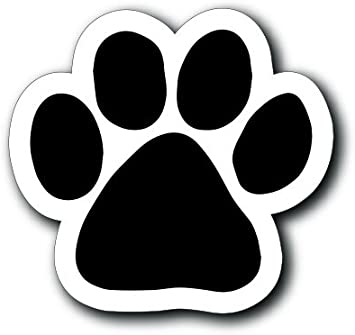 Magnet Me Up Blank Red Pawprint Car Magnet Paw Print Auto Truck Decal Magnet