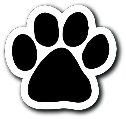 Magnet Me Up Blank Black Pawprint Car Magnet Paw Print Auto Truck Decal Magnet