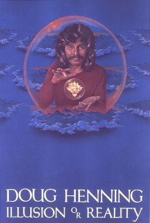 POSTER-DOUG HENNING:ILLUSION OR REALITY ORIGINAL 1980'S PROMO POSTER