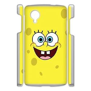 DIY Printed Spongebob hard plastic case skin cover For Google Nexus 5 SN9Q951868