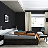 """solid black wallpaper Peel and Stick Solid Color Black Wallpaper 24"""" by 393"""" (Black)"""