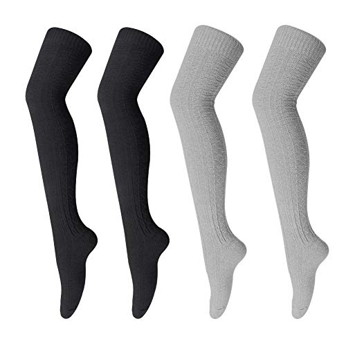 Women's Winter Knit Over Knee-High Socks Leg Warmer Crochet Thigh High Boot Socks Girls Stocking EXTENDAY