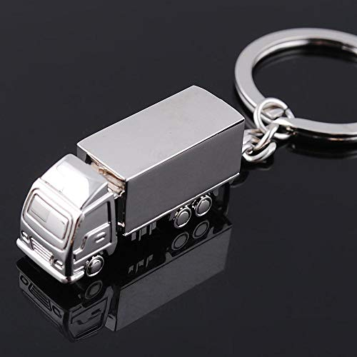 Creative Polished Silvery Truck Trucks Cargo Key Chain Ring Keyfob Key Holder Keyring Keyrings