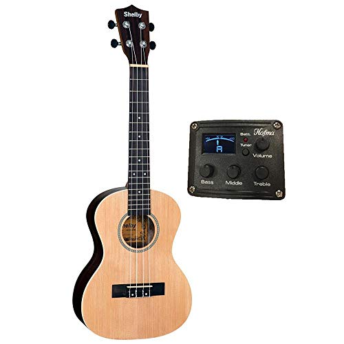 Ukulele Shelby Tenor Su25re Stnt Natural Elétrico Afinador