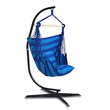Super Deal C Frame Stand Indoor Outdoor Solid Steel Hammock Air Porch Swing Hanging  Chair (