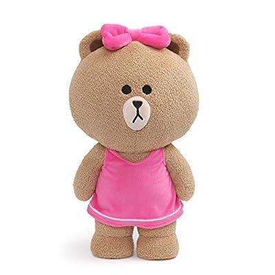 "GUND Line Friends Choco Standing Plush Stuffed Animal Bear, Brown, 14"""