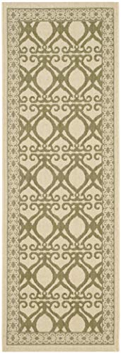 Safavieh Courtyard Collection CY3040-1E01 Natural and Olive Indoor/ Outdoor Area Rug (2'7
