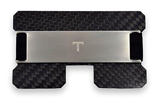 Tribe Carbon Fiber RFID Blocking Minimalist Card Wallet (Silver) ()