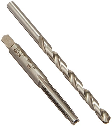 Hanson 1788680 Pts Tap Plus Drill Combo 6mm-1.00/Number 9 for Tap Die Extraction (1.00 Plug)
