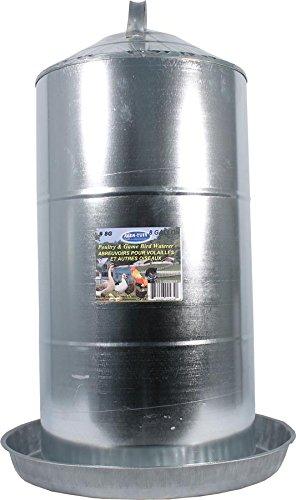 Farm Tuff Double Wall Cone-Top Galvanized Poultry Fountains, 8-Gallon
