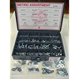 Metric Hex Bolt, Nut, Flat & Lock Washers Assortment in Steel by MSTC