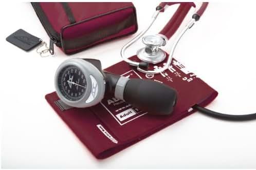 ADC Pro's Combo I 788/641 Palm Aneroid/Sprague Stethoscope Kit, Adult, Black