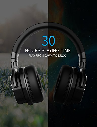 COWIN E7 PRO [Upgraded] Active Noise Cancelling Headphones Bluetooth Headphones with Microphone/Deep Bass Wireless Headphones Over Ear 30H Playtime for Travel/Work/TV/Computer/Cellphone - Black by cowin (Image #5)