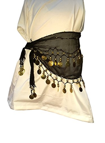 1617f390e Kaku Fancy Dresses Black Color Belt for Western Belly Dance/School Annual  Function/Theme Party/Competition/Stage Shows/Birthday Party Dress