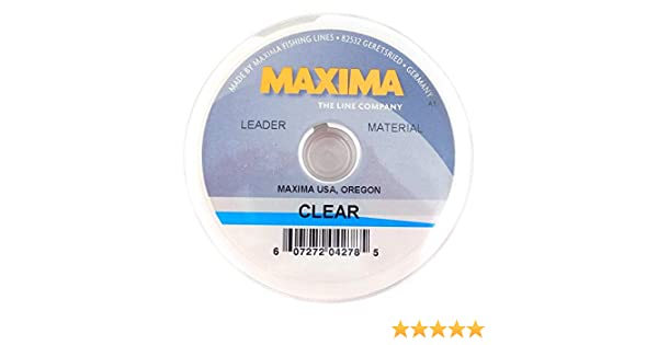 NEW MAXIMA CLEAR LEADER MATERIAL 8LB 27YD SPOOL fly fishing durable invisible