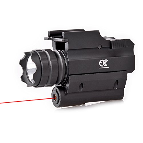 MCCC Tactical Red Laser Sight with 230 Lumens CREE LED Flashlight, Compact Rail Mounted, Quick Release, 1XCR123A Battery (Included) by MCCC