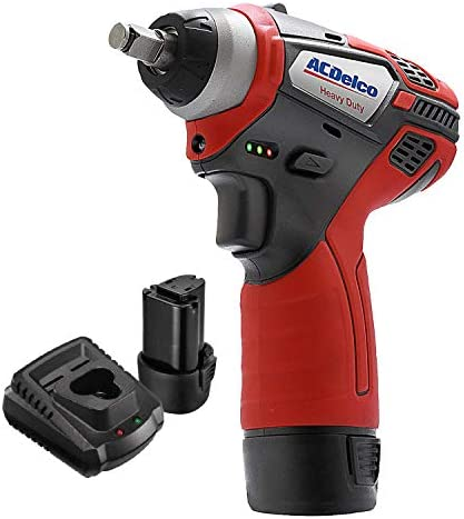 ACDelco 3 8 Power Impact Wrench 90ft-lbs LED Light Cordless Li-ion 12V Max Compact Tool, Kit with 2 Batteries, Charger, G12 Series ARI12104