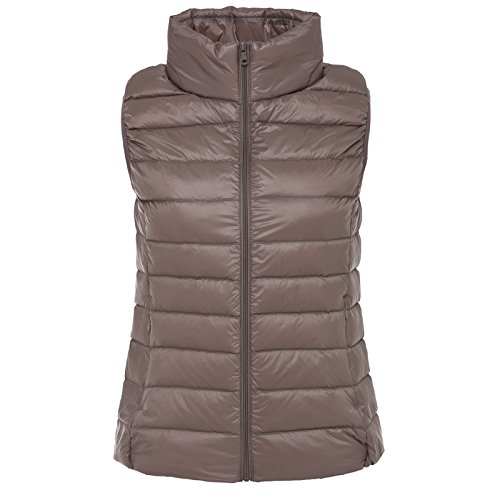 Female Autumn Short Down Xuanku Thin Collar Section Stand And Thin Vest Vest Accommodate Brown Jacket Was Can Slim Winter Sleeveless adngdT6wq