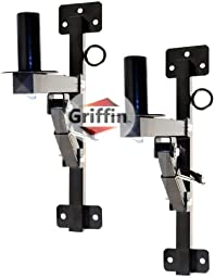 2 Pro-Audio Wall Mount Bracket Speaker Holders Stands PA DJ Mountable Brackets Griffin