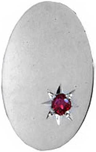 Ruby Oval Sterling Silver Tie Tac by David Van Hagen
