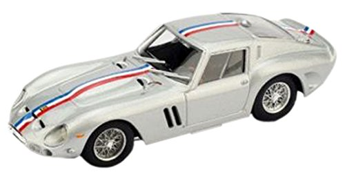 Brumm r508-04-Ferrari 250GTO 19621/43Scale Silver/Blue/White/Red