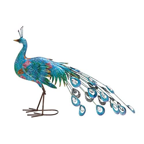 "Deco 79 Metal Peacock 31"" W, 20"" H, W/20 H"