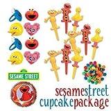 Sesame Street 4 Piece Cake Topper Set with (8) Bonus Cupcake Rings