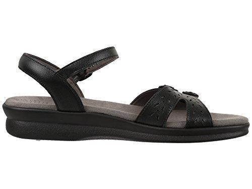SAS Women's Duo Black Leather Sandal Size 9 Medium by SAS