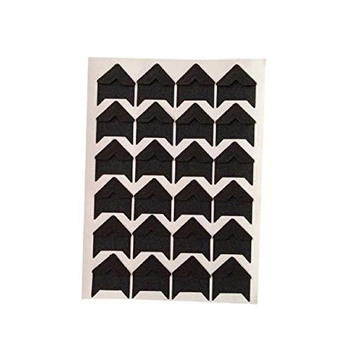 IRENE DIY Wall Stickers Vintage Corner Kraft Paper Photo Albums Decoration Scrapbooking (Black)