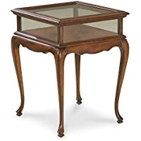 Tables - Chelmsford Curio Accent Table - End Table - Display Table - Cherry Finish