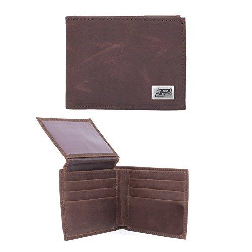 Eagles Wings NCAA Purdue Boilermakers Men's Bi Fold Wallet, One Size, Brown ()