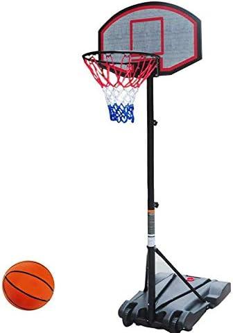 バスケットボール16インチの高さ調節可能なバスケットボールのフープポータブル屋外フリースタンディングは、子供のためのアウトドアスポーツのおもちゃスタンド