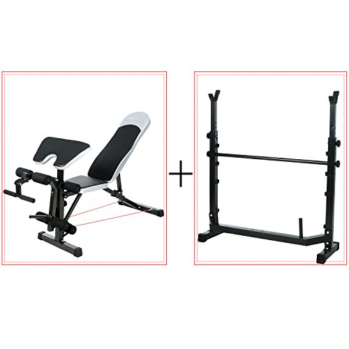Olympic Weight Bench Multi Functional Incline Decline Bench Set For Indoor Exercise Train