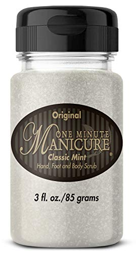 One Minute Manicure Moisturizing Salt Scrub - 3 oz | Professionally Formulated To Exfoliate, Recondition & Moisturize Skin | Enhanced With Botanical Oils & Natural Sea Salts (Classic Mint) ()