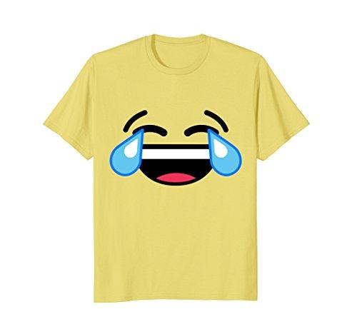 Mens Laughing Crying Tears Of Joy Emoji T Shirt Costume XL Lemon