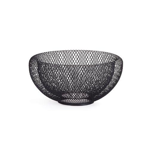 Torre & Tagus 901561B Mesh Double Wall Bowl, Medium, Black