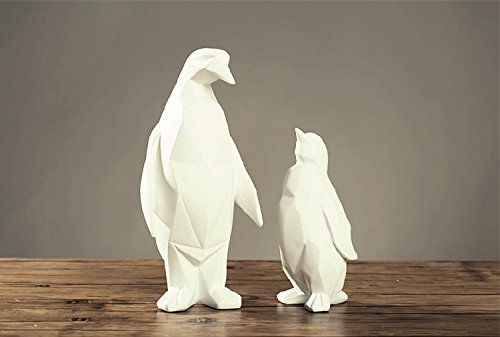 Nordic style geometric origami animal Penguin Zhaocai Home Furnishing jewelry ornaments modern minimalist furnishings zcl1124122 ( Size : H26.5CM ) by Supper PP