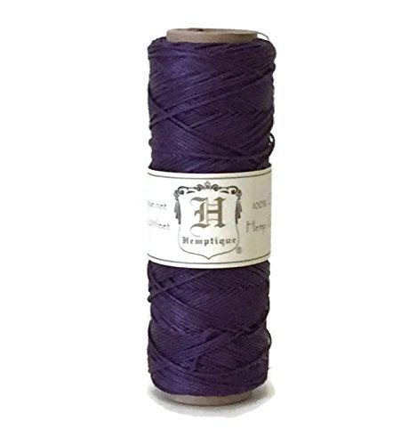 Hemp Cord Spool 10# Purple 205 Feet