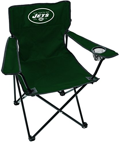 Chair Folding Tailgate Tailgating (Rawlings NFL New York Jets Unisex LP0055NFL Game Day Elite Chair, Green, Adult)
