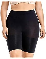 DELIMIRA Women's Plus Size Tummy Control Panties Thigh Slimmer Shapewear Shorts