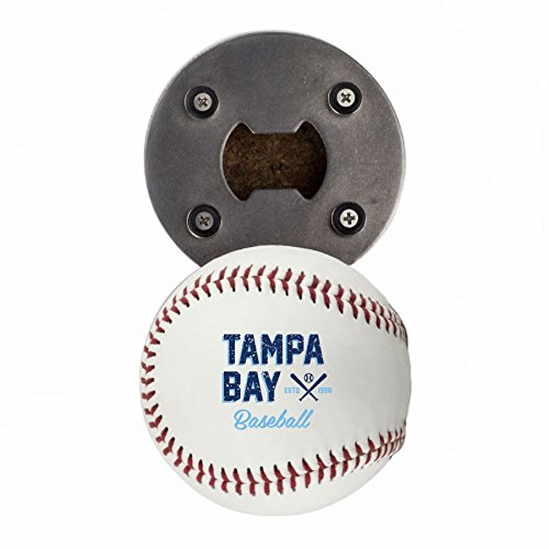 Tampa Bay Bottle Opener, Made from a real Baseball, The BaseballOpener, Cap Catcher, Fridge Magnet