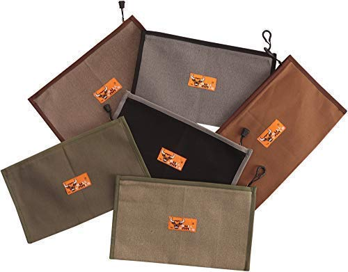 BULL TOOLS BT 19-101 HEAVY DUTY 100% DYED & WASHED 15 Oz. DUCK CANVAS 10 GAUGE BRASS ZIPPERED TOOL BAG ORGANIZER MULTI UTILITY TOOL POUCH 6 PIECE PACK (1 Piece, Small Multi)