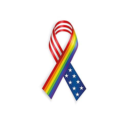 VROSELV Custom Blanket Pride Rainbow and USA Ribbons Solidarity Equality Awareness Community Theme Bedroom Living Room Dorm Multicolor