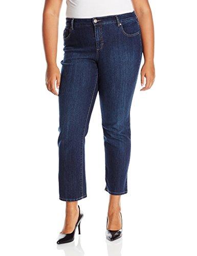Bandolino Women's Plus Size Mandie 5 Pocket Jean, Greenwich, 20W Short