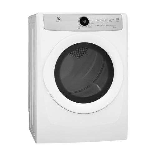 Electrolux EFDG317TIW 27″ Front Load Gas Dryer with 8 cu. ft. Capacity 5 Drying Cycles 3 Temperature Settings Wrinkle Release IQ-Touch Controls and 3 Dryness Levels in Island
